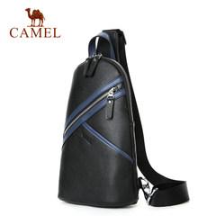 Camel/骆驼新款男士真皮胸包时尚简约牛皮单肩包青年韩版软皮