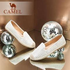 Camel/骆驼女鞋 2016秋季新款 轻便透气平跟单鞋圆头休闲鞋女鞋