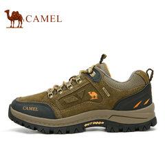 Camel/駱駝戶外 真皮品質登山鞋徒步鞋耐磨登山越野鞋真皮休閑鞋
