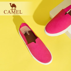 骆驼女鞋新款休闲简约纯色百搭平底单鞋舒适圆头乐福鞋