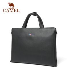【新品】Camel/骆驼男包2016新款男士手提包 时尚简约横款手提包