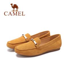 Camel/骆驼女鞋 2016新款豆豆鞋 真皮轻便休闲舒适透气平跟单鞋
