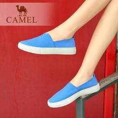 Camel/骆驼女鞋 春季休闲简约纯色百搭平底单鞋乐福鞋