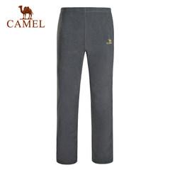 【新品】CAMEL骆驼户外情侣款抓绒裤 男女简约保暖抓绒裤