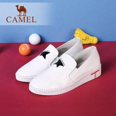 Camel/骆驼女鞋 秋新款韩版简约舒适百搭真皮休闲轻便平底单鞋