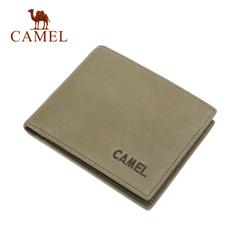 Camel/骆驼钱包2016新款男士钱包 商务休闲优质牛皮短款2折钱夹