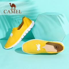 Camel/骆驼女鞋 2016秋季新款简约平底舒适圆头单鞋甜美乐福鞋