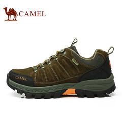 【明星同款】camel骆驼户外登山鞋男夏季防滑耐磨低帮牛皮徒步鞋