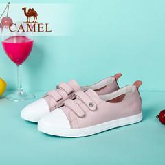 Camel/骆驼女鞋 2016秋季新款 魔术贴时尚平跟单鞋休闲圆头女鞋