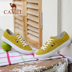 Camel/骆驼女鞋 2016秋季新款 简约风单鞋 清新系带休闲女鞋板鞋