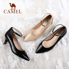 Camel/骆驼女鞋 2016秋季新款女鞋 时尚优雅酒杯鞋 高跟女单鞋