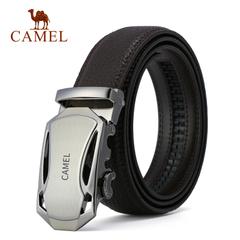 Camel/骆驼皮带 2016新款男士皮带商务休闲荔枝纹自动扣腰带裤带