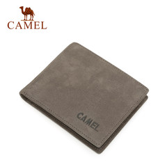 Camel/骆驼钱包男士短款真皮青年超薄钱夹正品头层牛皮横款皮夹子
