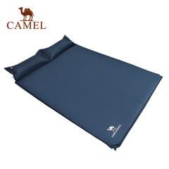【2016新品】CAMEL骆驼户外露营防潮垫 双人带枕自动充气垫