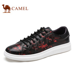 Camel/骆驼男士印花板鞋系休闲潮流拼接男鞋时尚滑板鞋