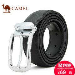 Camel/骆驼男士皮带商务休闲百搭锌合金针扣腰带青年男款真皮裤带