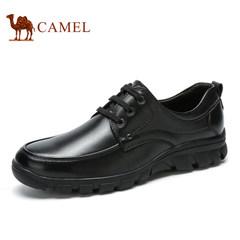 Camel/骆驼男鞋 商务休闲男鞋 牛皮舒适透气系带真皮品质休闲鞋男
