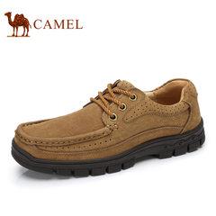 Camel/骆驼男鞋 牛皮系带运动户外鞋男圆头耐磨户外休闲鞋 夏季