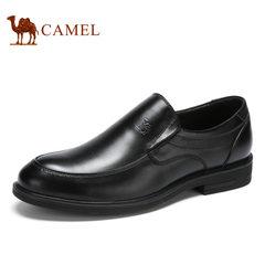 Camel/骆驼男鞋 套脚男鞋牛皮商务正装男士休闲鞋男真皮品质男鞋