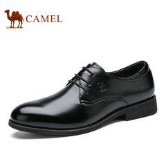 Camel/骆驼男鞋 圆头系带真皮品质商务休闲正装皮鞋男士西装鞋子