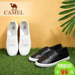 Camel/骆驼女鞋 2016秋季新款 舒适简约系带平小白鞋韩版休闲鞋