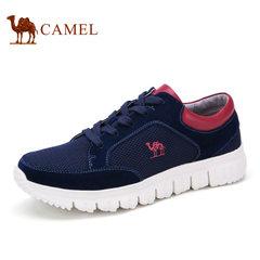 Camel/骆驼男鞋夏季 日常休闲运动男鞋系带拼接网面鞋男
