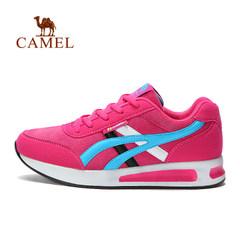 CAMEL骆驼户外女款休闲鞋 减震透气舒适时尚系带运动鞋