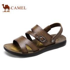 【断码清仓】Camel/骆驼男鞋夏季牛皮日常休闲凉拖两穿男鞋