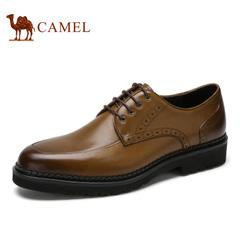 Camel/骆驼男鞋春季商务休闲皮鞋男士英伦系带皮鞋男