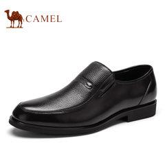 Camel/骆驼男鞋夏季牛皮经典商务休闲男鞋舒适套脚皮鞋子