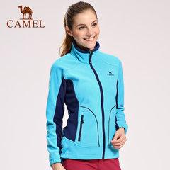 camel/骆驼户外抓绒衣 女款防风保暖开衫立领舒适抓绒衣