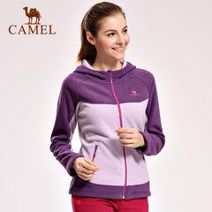 camel/骆驼户外保暖抓绒衣 女款时尚长袖开衫抓绒衣