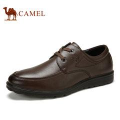 Camel骆驼男鞋 春季商务休闲纳帕牛皮舒适皮鞋男