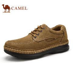 camel骆驼男鞋 2017春季男士皮鞋休闲鞋厚底缝线手工鞋