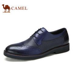 【断码清仓】Camel/骆驼男鞋商务休闲布洛克雕花休闲系带皮鞋子男