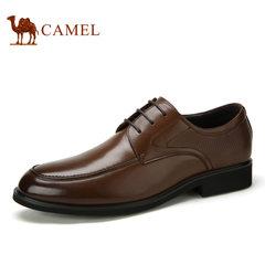 Camel 骆驼男鞋夏季商务正装 舒适耐磨 优质牛皮系带鞋 男士皮鞋