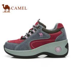 CAMEL骆驼户外 休闲徒步鞋女牛皮户外耐磨登山鞋时尚运动女鞋