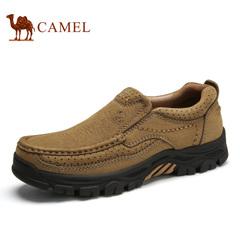 Camel/骆驼男鞋户外休闲皮鞋 牛皮运动户外鞋套脚休闲鞋2016新款
