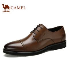 Camel/骆驼男鞋春季时尚男鞋牛皮商务系带男鞋正装皮鞋男