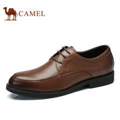 Camel/骆驼男鞋2016秋季新品商务休闲皮鞋舒适男士皮鞋系带男皮鞋