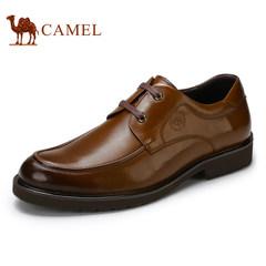 CAMEL骆驼皮鞋男真皮男鞋商务鞋男士英伦青年系带牛皮正装德比鞋