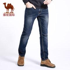 【热卖14000条】骆驼春季新款时尚男士中腰商务休闲直脚牛仔裤男