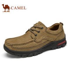 【断码清仓】Camel/骆驼男鞋户外大休闲系带牛皮工装磨砂牛皮鞋男