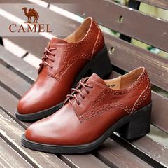 Camel/骆驼女鞋  秋冬 圆头系带女鞋简约系带休闲女单鞋