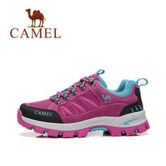 CAMEL駱駝戶外徒步鞋 2016秋季新款女款低幫防滑減震登山徒步鞋