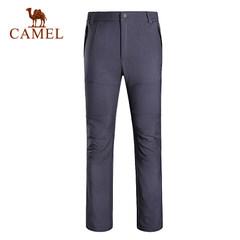 CAMEL骆驼户外男款冲锋软壳裤 防风保暖耐磨软壳长裤