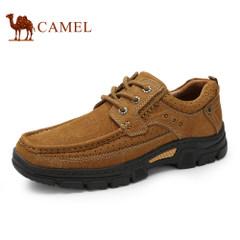 CAMEL骆驼工装磨砂牛皮鞋男春季新品大休闲优质牛皮舒适耐磨