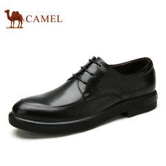 Camel/骆驼男鞋 夏季 商务正装优质烧焦牛皮鞋男士皮鞋