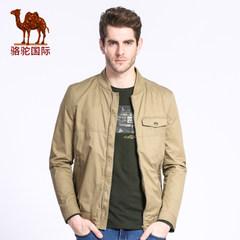 骆驼 秋季新款时尚休闲纯棉长袖外套 男士立领修身夹克