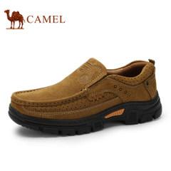 CAMEL骆驼新品磨砂牛皮鞋男鞋 大休闲优质牛皮工装舒适低帮鞋